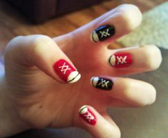 Converse Nail Art by KaleidoscopeEyes97