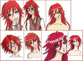 Grell doodles 2 by PlacebicYue