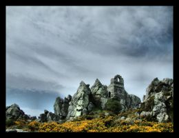 Hermit's chapel on Roche Rock by Pjharps