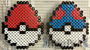 Pokeball and Greatball Easter Eggs by PerlerPixie