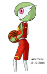 Basketball Gardevoir by Mortdres