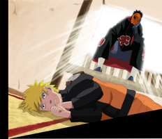 Naruto and Tobi by JyuuPL