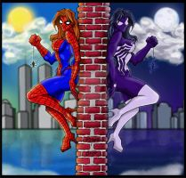 Mr Phill Spidey Girlz- Colors by Werecat-Studios