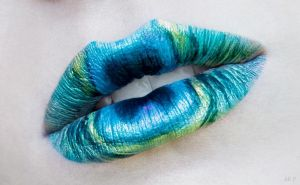 Peacock lips by Ryo-Says-Meow