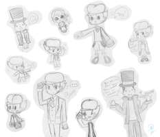 .:Prof. Layton Doodle Dump:. by SonicBoom24