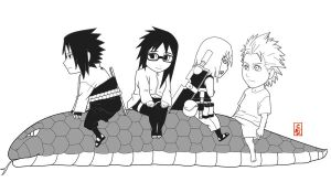 Team Hebi Chibis bnw by sharingandevil