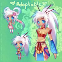 Chinese White Tiger Girl {ADOPTABLE-SOLD} by LittleRueKitty