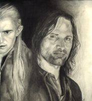 Legalos and Aragorn by dmbgal07