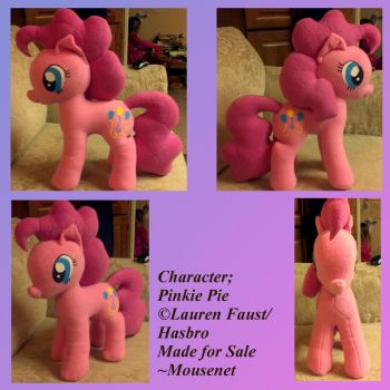 Pinkie Pie Plushie 2 by mousenet