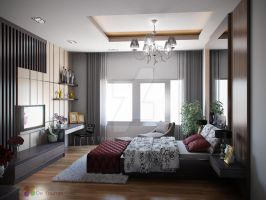 MASTER BEDROOM DESIGN, MEDAN by TANKQ77