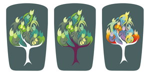 family tree variants by Kna