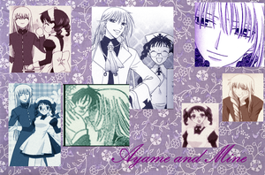 Ayame and Mine Collage by bluelilyoffire3