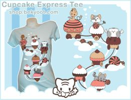 Cupcake Express Tee by lafhaha