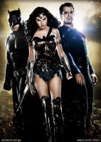 The Trinity - Dawn of Justice Fan Art by iamuday
