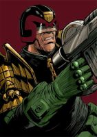 Judge Dredd colour 2 by JohnnyMc