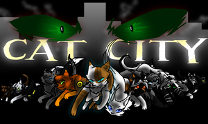 Cat City Wallpaper by Neonfluzzycat