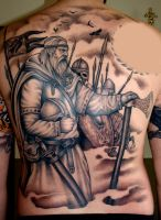 viking back by DarkSunTattoo