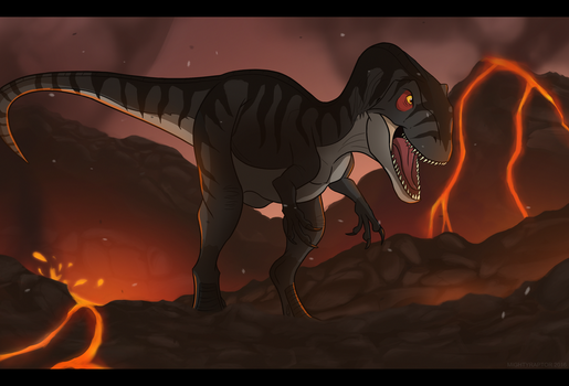 Dinovember 9 # - You meet your end by MightyRaptor