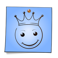 Post-It Smiley: The King by mondspeer