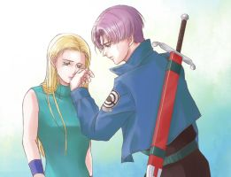 Trunks and Yari by oogamishiguma