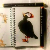 Instaart - Puffin by Candra