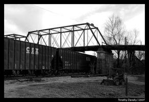 Old train on the delta by timlori