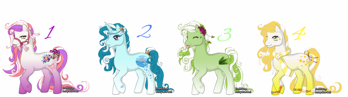 DollDivine Pony Adoptables [CLOSED] by makeradopts
