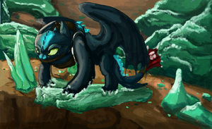 Battle. Toothless. by ISpyrq