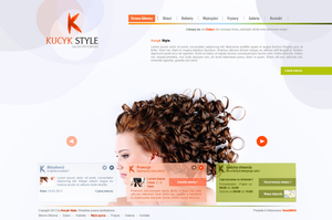 Corporate Website Kucyk Salon Fryzjerski by kqubek by kqubekq