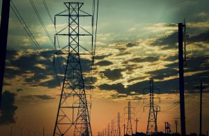 powerlines at sunrise by knowyourrights
