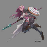 Adventure Knights - Candy Knight Bubblegum by Chilimanic