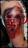 bloody girl tattoo dead eye by nextleveltattoo