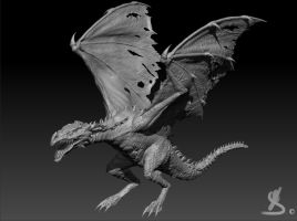 Dragon 3D sculpt by Waterik