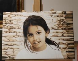 Maledives Child Oil Painting by Oil-Gallery