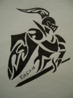 Tribal Knight Tattoo 2 by OrcaKing