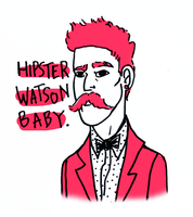 Hipster Dr. Watson by beastbelow