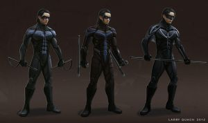 Nightwing - Costume Variations by NoBackstreetboys