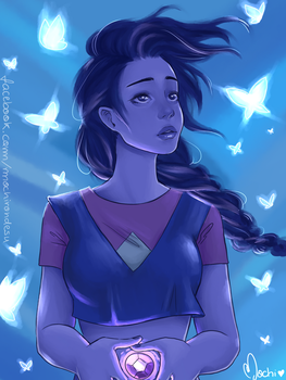 Here comes a thought - Stevonnie by Mochi-Mochiron