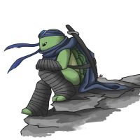 TMNT AU: Alone by Mosrael-the-Waker