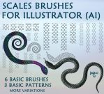 Scales brushes for Illustrator (AI) by jojo-ojoj