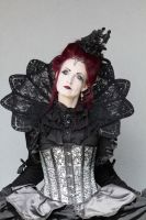 Stock - Gothic lady portrait frontview  collar by S-T-A-R-gazer