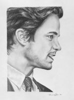 Pencil Drawing of Matt Bomer from White Collar by rachbeth