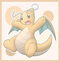 Chibi Dragonite by GogetaJr