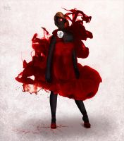 Lady of Red Ink by DarkoDesign
