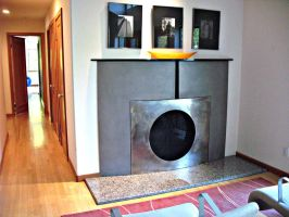 Stainless Fireplace Screen by ou8nrtist2