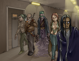 Realities 4 of 4 - The Gang by dadarulz