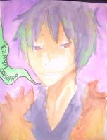 :DRRR: Watercolour Izaya by djchungy