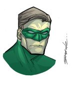 Green lantern sketch by johnnymorbius