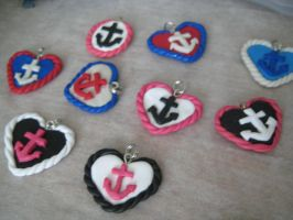 Navy Hearts by evililchic54