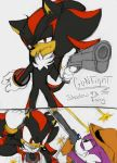 Shadow the Hedgehog VS Fang the Weasel: Gun Fight by Narcotize-Nagini